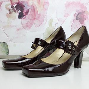 Franco Sarto Patent Leather Mary Jane Heels 8.5